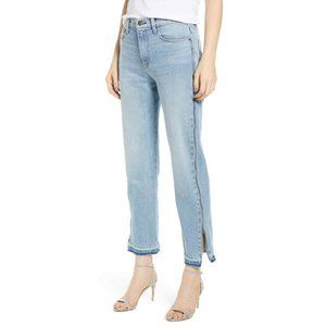 Hudson Holly High Waist Side Zipper Straight Jeans